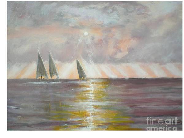 Seascape Poster featuring the painting Clearwater by Hal Newhouser