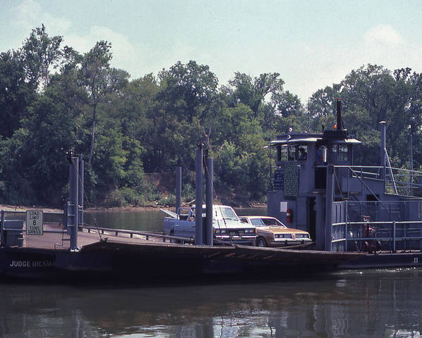 Cleeces Poster featuring the photograph Cleece's River Ferry Nashville Tennessee - 1 by Randy Muir