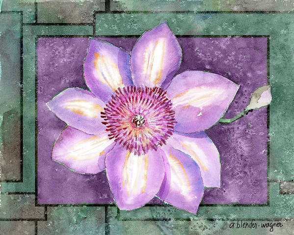 Flowers Poster featuring the painting Clematis by Arline Wagner