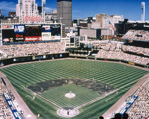 2000 Poster featuring the photograph Cleveland: Jacobs Field by Granger