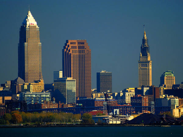 Cleveland Poster featuring the photograph Cleveland by Neil Doren