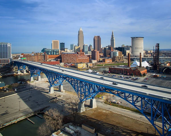 Cleveland Poster featuring the photograph Cleveland Skyline #1 by Bill Berris