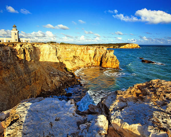 Cabo Rojo National Wildlife Refuge Poster featuring the photograph Cliffs Of Cabo Rojo At Sunset by George Oze