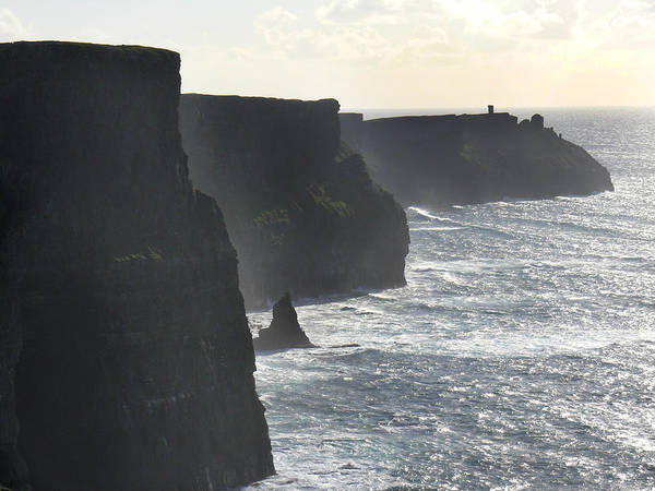 Travel Poster featuring the photograph Cliffs Of Moher 1 by Mike McGlothlen