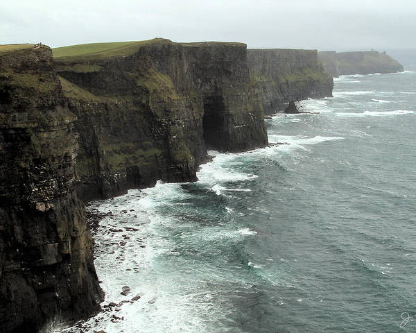 Cliffs Of Moher Poster featuring the photograph Cliffs Of Moher by Joe Bonita