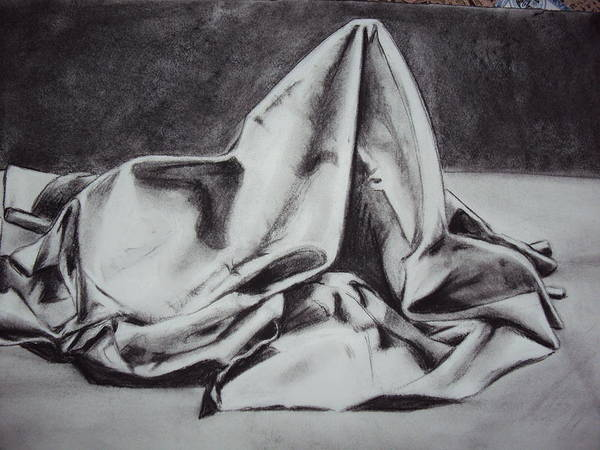 Poster featuring the drawing Cloth by Jessica Villegas