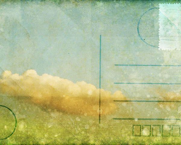 Address Poster featuring the photograph Cloud And Sky On Postcard by Setsiri Silapasuwanchai