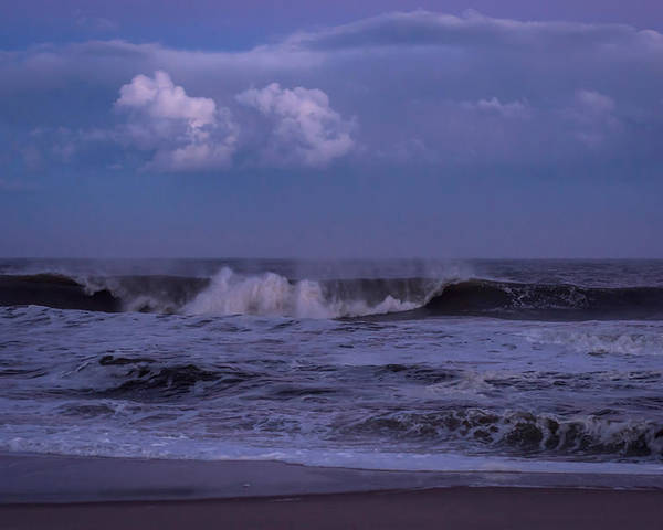 Terry D Photography Poster featuring the photograph Cloud And Wave Seaside New Jersey by Terry DeLuco
