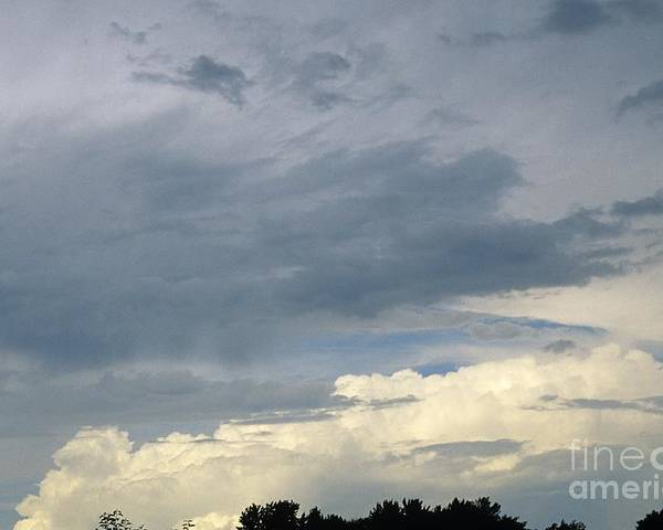 Storm Clouds Poster featuring the photograph Cloud Cover by Erin Paul Donovan