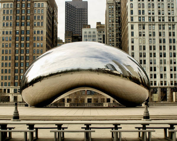 Chicago Poster featuring the photograph Cloud Gate - 3 by Ely Arsha