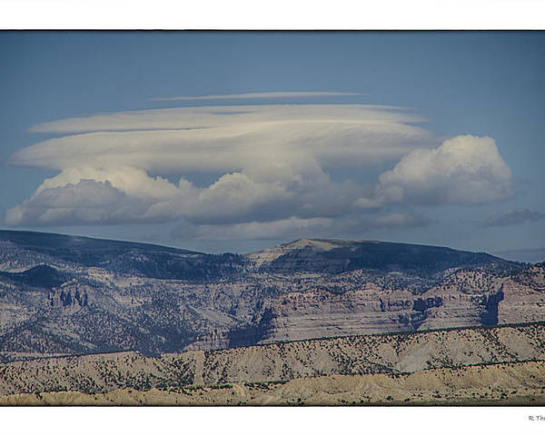 Landscape Poster featuring the photograph Cloud On Route 6 by R Thomas Berner