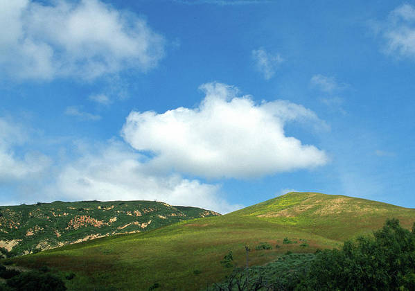 Hills Poster featuring the photograph Cloud Over Hills In Spring by Kathy Yates