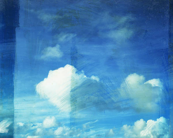 Abstract Poster featuring the painting Cloud Painting by Setsiri Silapasuwanchai