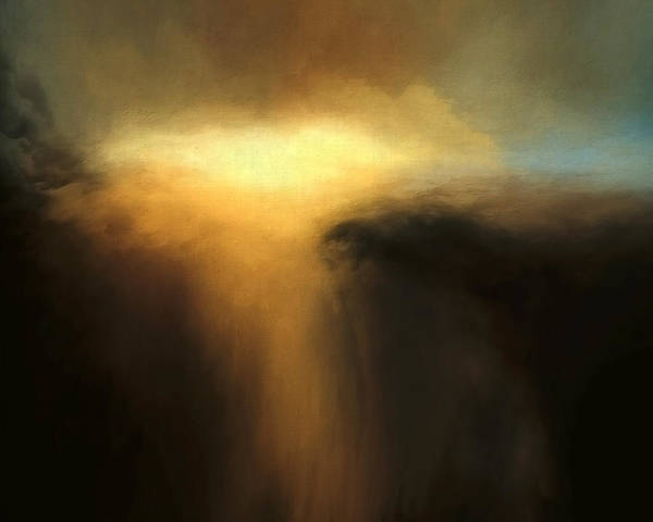 Lc Bailey Poster featuring the mixed media Cloud Scape by Lonnie Christopher