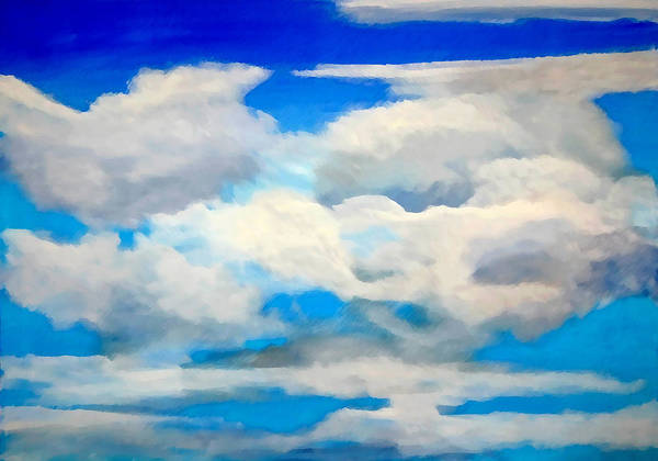 En Plein Air Poster featuring the painting Cloud Study by Donna Proctor