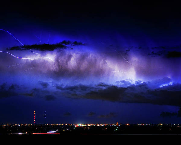 Bouldercounty Poster featuring the photograph Cloud To Cloud Lightning Boulder County Colorado by James BO Insogna