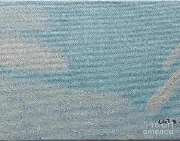 Clouds Poster featuring the painting Clouds by Epic Luis Art