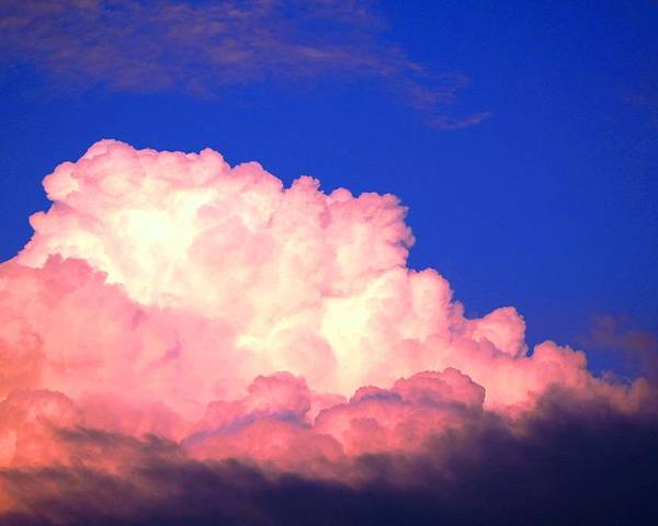 Clouds Poster featuring the photograph Clouds In Mystical Sky by Lisa Johnston