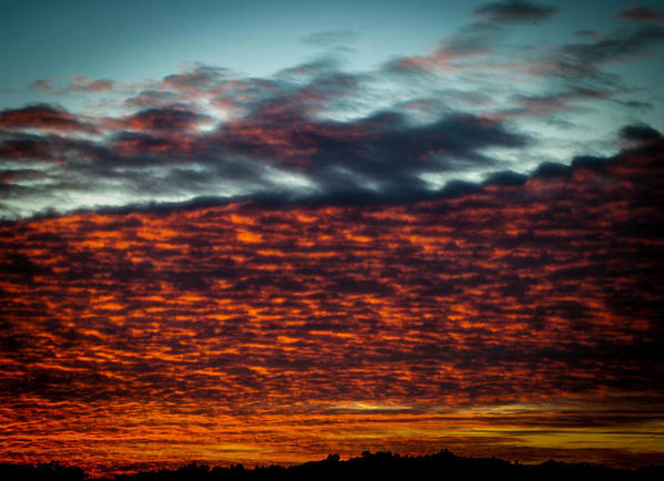 Sunset Poster featuring the photograph Clouds Of Fire by Brooks Creative -Photography and Artwork By Anthony Brooks