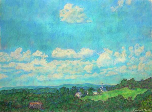 Landscape Poster featuring the painting Clouds Over Fairlawn by Kendall Kessler