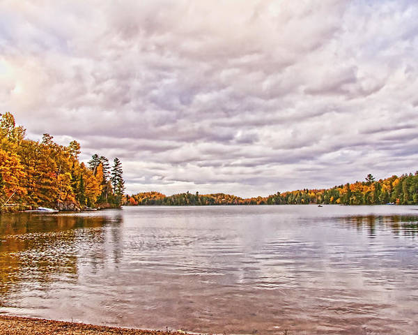 Lake Poster featuring the photograph Clouds Over Lake by Joanne McKinnon