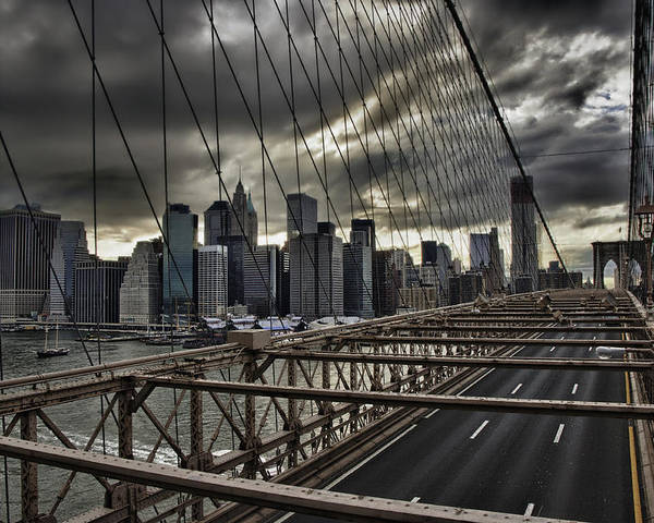 Architektur Poster featuring the photograph Clouds Over Manhattan by Andreas Freund
