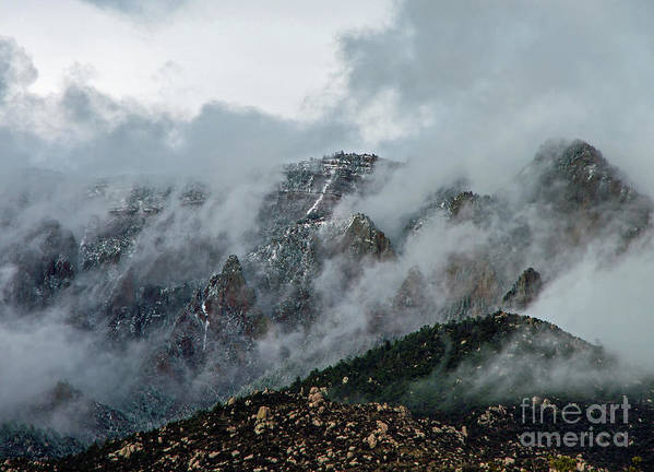 Sandia Poster featuring the photograph Clouds Over Sandia by Stephen Whalen