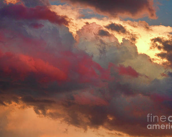 Sunsets Poster featuring the photograph Cloudscape Sunset 46 by James BO Insogna