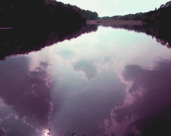 Clouds Poster featuring the photograph Cloudy Lake by Sue Ann Rybarczyk