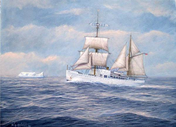 Coast Guard Poster featuring the painting Coast Guard Cutter Northland by William H RaVell III