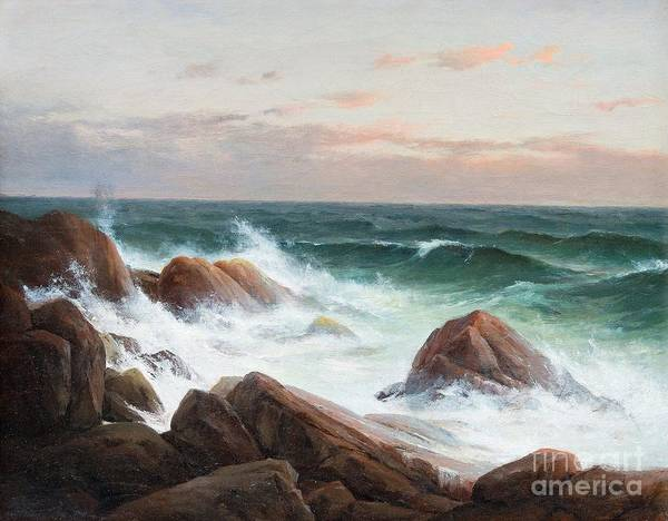 Berndt Lindholm Poster featuring the painting Coastal Landscape. by Celestial Images