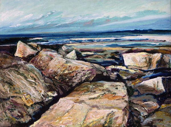 Landscape Poster featuring the painting Coast's Edge by Richard Knox