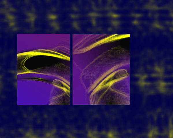 Abstract Poster featuring the digital art Cobra by Steve Karol