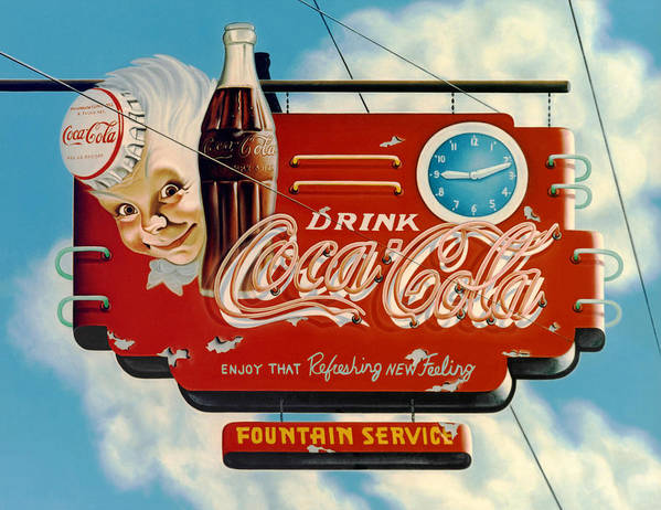 Coca Cola Poster featuring the painting Coca Cola by Van Cordle