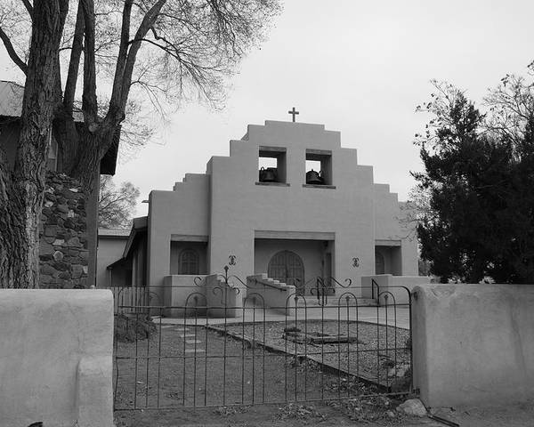 Architecture Poster featuring the photograph Cochiti Church by Rob Hans