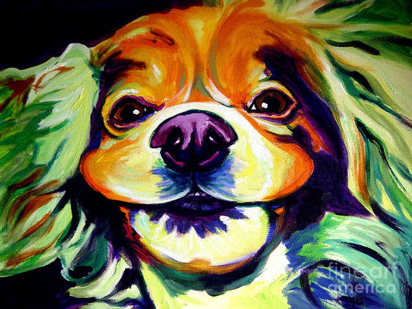 Dog Poster featuring the painting Cocker Spaniel - Cheese by Alicia VanNoy Call