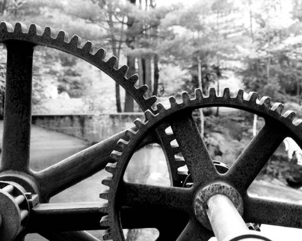 Metal Poster featuring the photograph Cogs by Greg Fortier