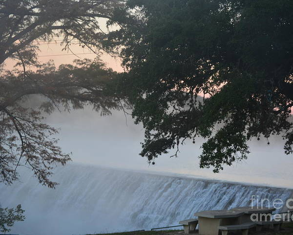 Waterfall Poster featuring the photograph Cold Foggy Morning #2 by Don McAllister