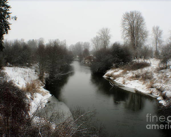 River Poster featuring the photograph Cold River by Idaho Scenic Images Linda Lantzy