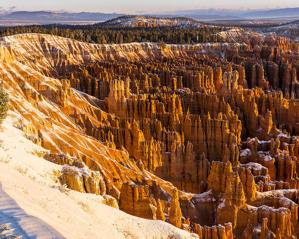 Canyons Poster featuring the photograph Cold Sunrise At Bryce by Bob Camp