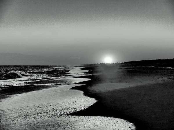 Black & White Photo Poster featuring the photograph Cold Winter Sunset by Jack Riordan