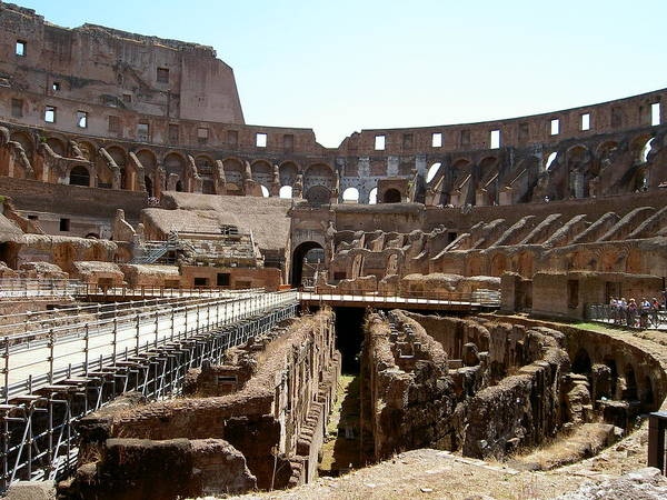 Rome Poster featuring the photograph Coliseum 2 by Blima Efraim