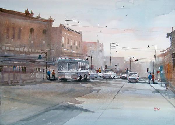 Ryan Radke Poster featuring the painting College Avenue - Appleton by Ryan Radke