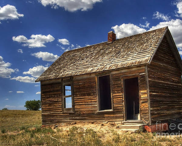 Landscape Poster featuring the photograph Colorado Homestead by Pete Hellmann