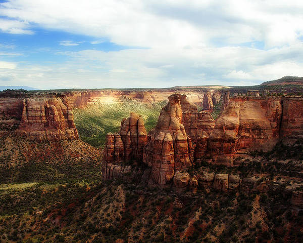 Americana Poster featuring the photograph Colorado National Monument by Marilyn Hunt
