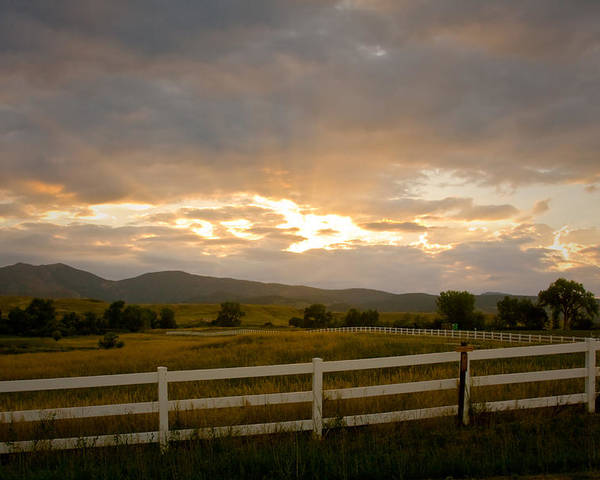 Bo Insogna Poster featuring the photograph Colorado Rocky Mountain Country Sunset by James BO Insogna