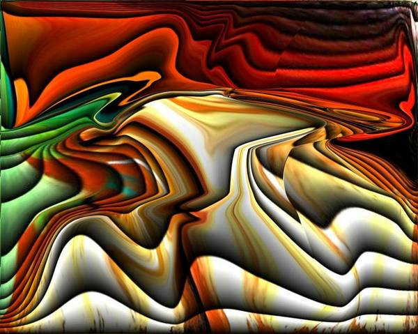 Colorful Poster featuring the digital art Colorful Abstract33 by Teo Alfonso
