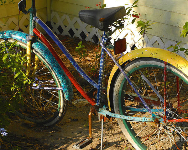 Bicycle Poster featuring the photograph Colorful Bike by David Lee Thompson