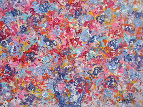 Flowers Poster featuring the painting Colorful Floral Bouquet. by Leonard Holland