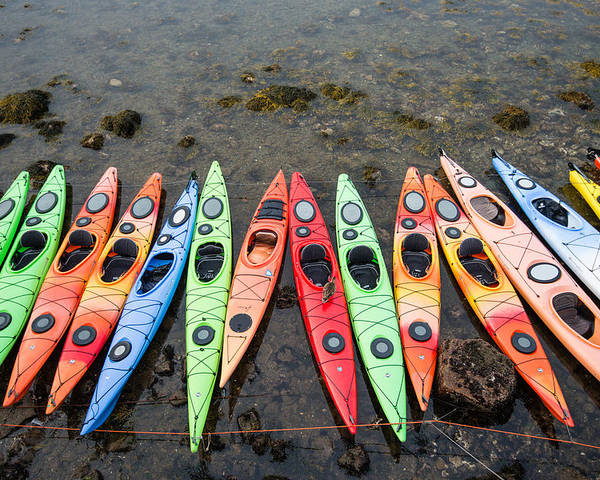 Kayak Poster featuring the photograph Colorful Kayaks by Jan Komsta